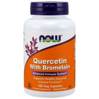 Now Foods Quercetin with Bromelain 120 Caps 800mg and 2400GDU