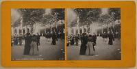 Vichy Il Parc E La Sala Da Repos Francia Foto Stereo Vintage Analogica c1900