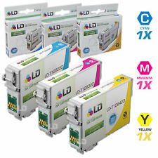 LD Remanufactured Replacements for Epson T126 (Cyan, Magenta, Yellow) 3-Pack