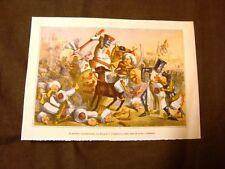 Caricatura francese Combattimento Riccardo I Cuor di Leone e Saladino Crociata