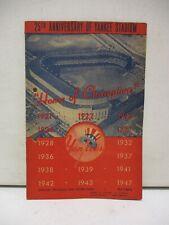 1948 New York Yankees Vs Philadelphia A's Scorecard with Ticket