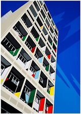 Corbusier Haus Berlin Architecture Pop Art Limited Edition Signed Art Prints