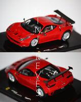 Hotwheels Elite Ferrari 458 Italia GT2 2011 rouge 1/43 X2861
