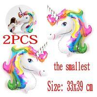 Unicorn Small Rainbow Foil Helium Balloon Children Birthday Party Decoration New