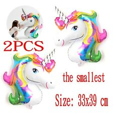 Unicorn Small Rainbow Foil Helium Balloon Children Birthday Party Decoration New