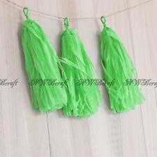 5 X Apple Green Tissue Paper Tassels Bunting Garland Wedding Party Balloon Décor