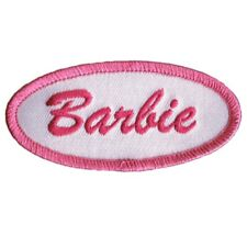 """Barbie Patch - Pink, White 3"""" (Iron On)"""
