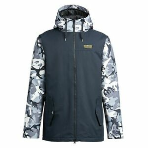 Snowboard Ski Jacket Men's Large Black Airblaster Toaster Jacket Camo