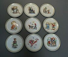 """Lot of 9 The Berta Hummel Museum Miniature Plate Collection 4"""" mid 1970s Germany"""