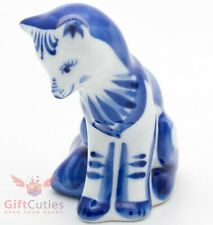 Porcelain Gzhel Fox Figurine Гжель