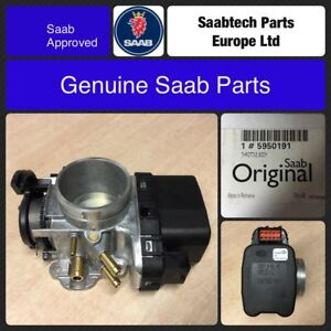 GENUINE SAAB 9-5 04-09 B205 & B235 THROTTLE BODY -  NEW - SAAB BOXED - 5950191