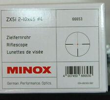 Zielfernrohr MINOX  ZX5i Art.Nr.66653  2-10x45 Leucht Absehen #4  Sonderpreis