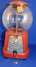 Antique Penny Bubble Gum Machine with Key Gumball Vending Peanuts Candy Coin-op