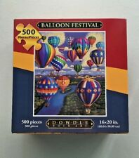 "Jigsaw Puzzle 500 Pieces - Hot Air Balloon Festival By Dowdle Folk Art 16"" X 20"""