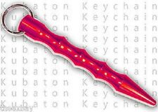 Pink Metal Self Defense Security Aluminium Kubotan Kubaton Keychain Pointed End