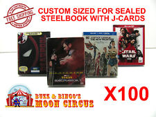 100x BLU-RAY STEELBOOK PROTECTIVE SLEEVE- BOX PROTECTORS- WITH J-CARD
