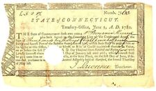 1780 Payment - Connecticut Line Of Continental Army