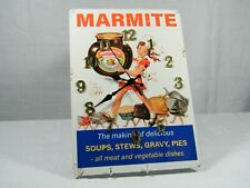 """A Wall Clock made from a Reproduction """" Marmite """" add from 1950's, Superb!"""