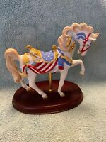 LENOX 1991 PATRIOTIC AMERICAN CAROUSEL HORSE PRIDE OF AMERICA HORSE