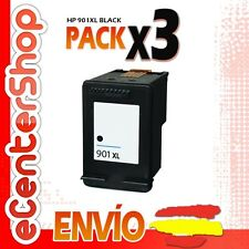 3 Cartuchos Tinta Negra / Negro HP 901XL Reman HP Officejet 4500