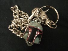 "Star Wars Boba Fett Bounty Hunter Mask Helmet Charm 3D Metal 18.5"" Wallet Chain"