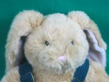 BIG BUILD A BEAR WORKSHOP EASTER BUNNY RABBIT CORDUROY OVERALLS PLUSH STUFFED