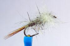 1x Mouche de Peche Sèche CDC Lievre H14/16 BARBLESS hook mosca fly fliegen