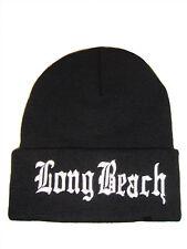Black Long Beach Long Knit Beanie Ski Cap Caps Hat Hats Snoop Dogg Lion Cuffed