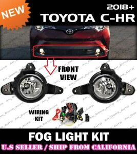 [complete] FOG LIGHT KIT for TOYOTA 18 19 20 21 C-HR CHR w/ switch wiring covers