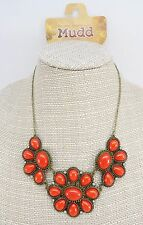 New Red & Blue Bubble Statement Necklace with Rhinestones by Mudd #N2259-60