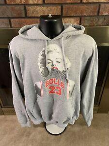 Chicago Bulls NBA Basketball Marilyn Monroe Hoodie Swestshirt Mens XL Jordan 23