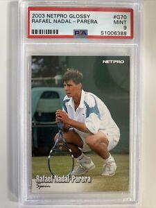 2003 Netpro Glossy RC Rafael Nadal #G70 PSA 9 Mint Rookie