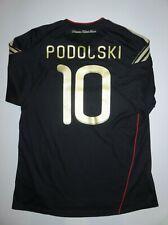 2010-2011 Germany Lukas Podolski Adidas Kit Jersey Black Away Shirt Deutschland