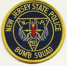 BOMBEN-KOMMANDO:  State  Police NEW JERSEY Polizei Abzeichen Patch Aufnäher