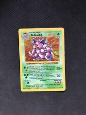 Pokemon Card Nidoking 11/102 Shadowless Base Set Holo