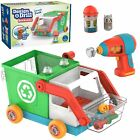Educational Insights Design & Drill Bolt Buddies Recycling Truck Toy, Take Ap...