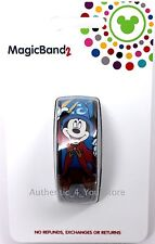 NEW Disney Parks Sorcerer Mickey MagicBand 2 Fantasia Ear Hat Blue Magic Band