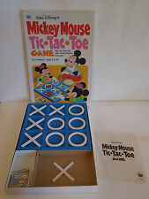 Vintage 1977 MICKEY MOUSE TIC TAC TOE Game Walt Disney Riddles 100% Complete