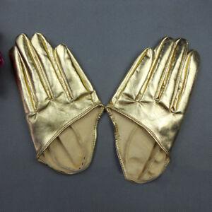 Elegant Women Ladies Soft PU Short Gloves Driving Winter Warm Punk Design New