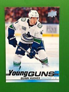2019-20 Upper Deck Quinn Hughes Young Guns RC Rookie #249 Canucks