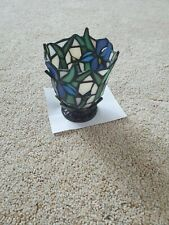 Party Lite stained gass votive candle 4 1/2 inches tall 3 1/2 inches wide