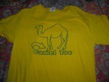 """CAMEL TOE"" NOVALTY T-SHIRT TEE MEDIUM YELLOW"