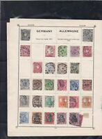 german mixed stamps page ref 17426