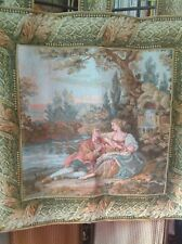 BEAUTIFUL ROMANTIC TAPESTRY WALL HANGING, LINED,TABS, LARGE 36x36in,High Quality