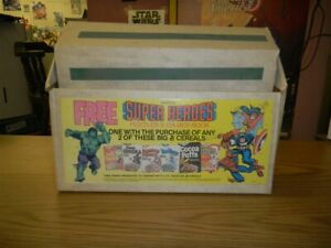 MARVEL SUPER HEROES PUZZLES & GAMES BOOK PROMO CEREAL HOLDER STANDEE 1979 GM