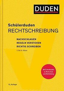 Schülerduden Rechtschreibung und Wortkunde (gebunden)   Dudenredaktion   Buch