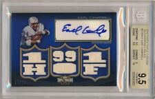 2010 Topps Triple Threads EARL CAMPBELL Relic Auto /18 *Oilers* BGS 9.5