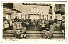 Antique RPPC real photograph postcard Reina Del Pacifico Grand Hall interior