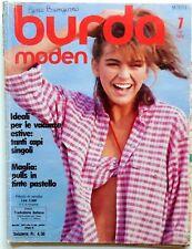 RIVISTA MAGAZINE BURDA MODEN 7 JULI 1984 + CARTAMODELLI-ALLEGATO ITALIANO