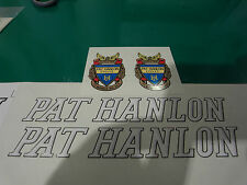 Pat Hanlon decal set. Later type BowesRoad address. Immaculate artwork from orig
